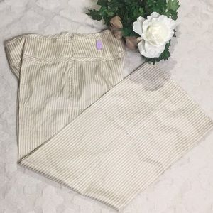 EUC Armani Collezioni 100% Silk Striped Pants, 6